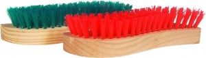 Brushes - Timber handle - green & red