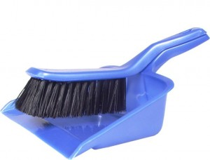 Dust-pan - with brush